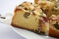 Cake met rabarber Royalty-vrije Stock Afbeeldingen