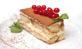 Cake met redcurrant Stock Afbeelding
