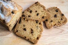 Cake met rozijnen Royalty-vrije Stock Afbeelding
