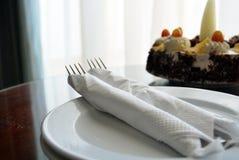 Cake met vorken Stock Fotografie
