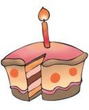 Cake met weg Stock Afbeelding