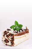 Cake with mint Royalty Free Stock Images