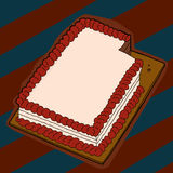 Cake with Missing Slice Royalty Free Stock Images