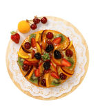 Cake with a mix of fruit Royalty Free Stock Image