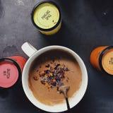 Pancake mix stock image
