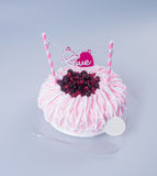 cake or mothers day cake on a background. Royalty Free Stock Photo