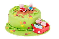 Cake with mumps Stock Images