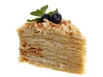 Cake napoleon Royalty-vrije Stock Fotografie