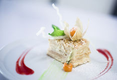 cake napoleon Arkivfoton