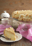 Cake Napoleon of puff pastry with cream Stock Images