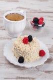 Cake Napoleon of puff pastry with sour cream Stock Photo