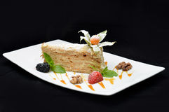 Cake Napoleon slice Royalty Free Stock Photo