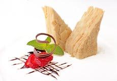Cake Napoleon with strawberry Royalty Free Stock Photos