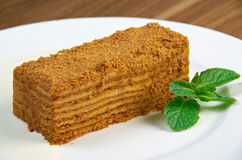 Cake Napoleon Stock Photography