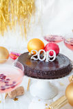 Cake for a New Year`s Eve Party Royalty Free Stock Images