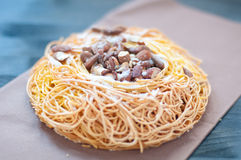 Cake noodles a typical cake mantova Royalty Free Stock Photos