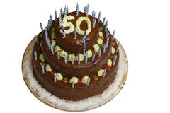 Cake with number 50 Royalty Free Stock Image