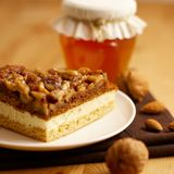 Cake with nuts Stock Images
