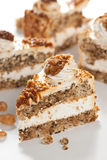 Cake with nuts and caramel Stock Photo