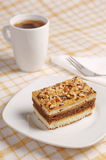 Cake with nuts and coffee Stock Photography