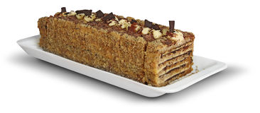 Cake with nuts Stock Photos