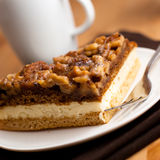 Cake with nuts and honey Stock Images