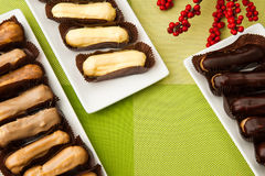 Free Cake On A Square Plate Stock Photos - 80217933