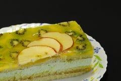 Cake op de plaat Stock Fotografie