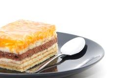 Cake op een plaat Royalty-vrije Stock Afbeelding
