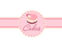 Cake op een roze stock illustratie