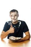 Cake op gezicht Het beeld van de voorraad Royalty-vrije Stock Fotografie