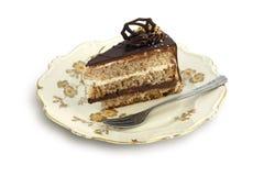 Cake op plaat Stock Foto's