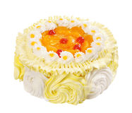 Cake with orange jelly Royalty Free Stock Images