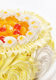 Cake with orange jelly Royalty Free Stock Photos
