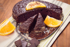 Cake with orange Stock Photography