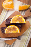 Cake with orange Royalty Free Stock Photography
