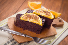 Cake with orange Stock Photo