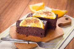 Cake with orange Royalty Free Stock Images