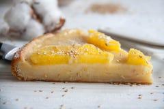 Cake with oranges. Tasty and easy dessert idea: Cake with oranges stock photos