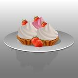 cake på en platta Royaltyfria Foton
