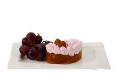 Cake på plattan Arkivfoto