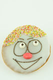 Cake with painted face Stock Image