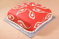Cake with Paisley Pattern Royalty Free Stock Images