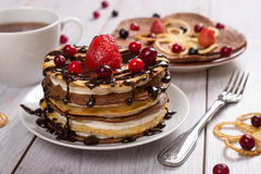 Cake of pancakes Stock Images