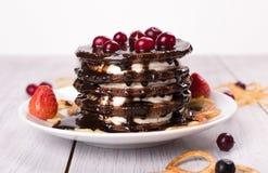 Cake of pancakes Royalty Free Stock Photos