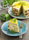 Cake Pancakes From The Liver Royalty Free Stock Images