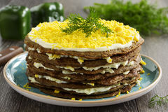 Cake Pancakes From The Liver Stock Photography