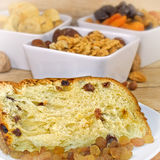 Cake - panettone (panattone) closeup Royalty Free Stock Photography
