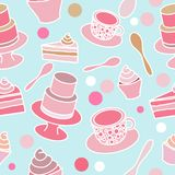 Cake party seamless pattern stock photo