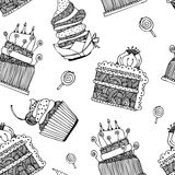 Cake pattern Stock Photography